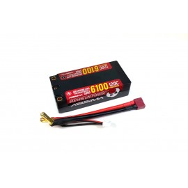 Absima Shorty Lipo Grafeno HC 2S 120C 6100HV 5mm incluye cable
