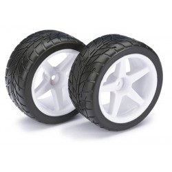 ABSIMA 2500008 Wheel Set Buggy 5-Spoke / Street rear white 1:10 (2)