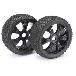 ABSIMA 2520011 Wheel Set LP Buggy Dirt black 1:8 (2)