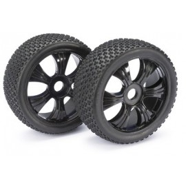 "Wheel Set LP Buggy ""Dirt"" black 1:8 (2 pcs)"
