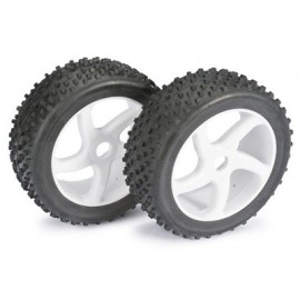 "Wheel Set Buggy ""5 Spoke / Dirt"" white 1:8 (2 pcs)"
