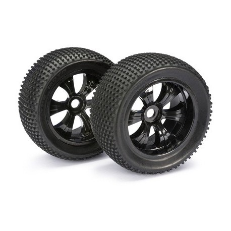 "Wheel Set LP Truggy ""Dirt"" schwarz 1:8 (2 pcs)"