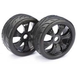Wheel Set LP Buggy ?Street? black 1:8 (2 pcs)