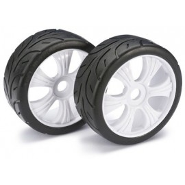 Wheel Set LP Buggy ?Street? white 1:8 (2 pcs)