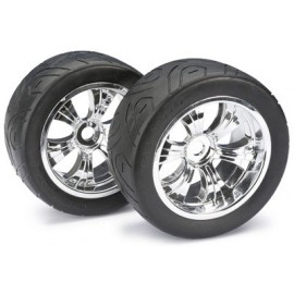 "Wheel Set LP Truggy ""Street"" chrome 1:8 (2 pcs)"