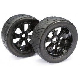 "Wheel Set LP Truggy ""Street"" black 1:8 (2 pcs)"