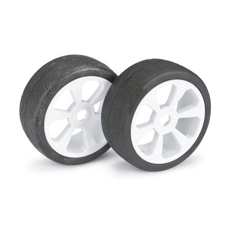 "Wheel Set Buggy ""6 Spoke / Street"" white 1:8 (2 pc"
