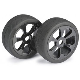 "Wheel Set Buggy ""6 Spoke / Street"" black 1:8 (2 pc"