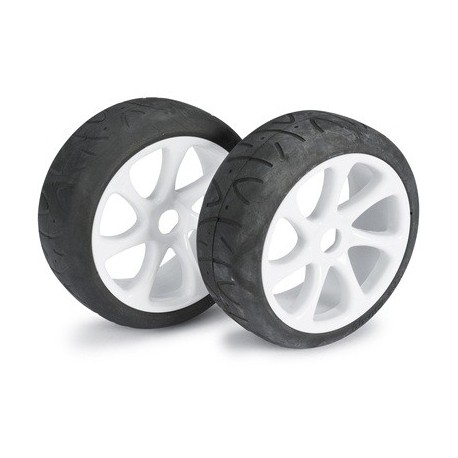 "Wheel Set Buggy ""7 Spoke / Street"" white 1:8 (2 pc"