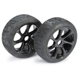 "Wheel Set Buggy ""7 Spoke / Street"" black 1:8 (2 pc"