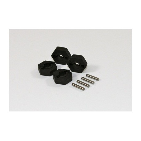 Hex w. Pin (4 pcs) 2WD Comp.