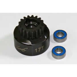 TEAM C TU0857 Clutch Bell 17T inclusive Ball Bearing 1:8 Comp.