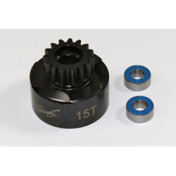 TEAM C TU0855 Clutch Bell 15T inclusive Ball Bearing 1:8 Comp.