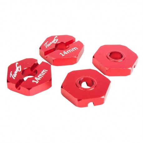 Alu Hex Hub 14mm (4) red