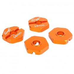 Alu Hex Hub 14mm (4) orange