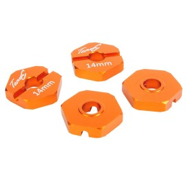 TEAM C TU0440OR Alu Hex Hub 14mm orange (4)