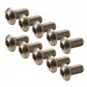 Titanium Hex Button Head Screw M3x6 (10)