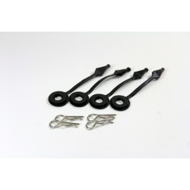 TEAM C H135B Bodypins and Holder (4 pcs.) 1:10 Short Course