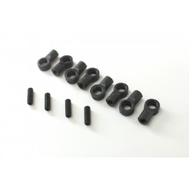 Ball End Set short 4.8mm (8 pcs.) 4WD Comp. Buggy