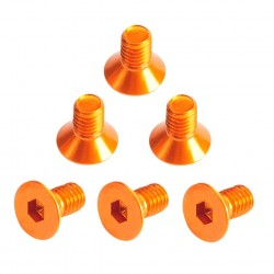 Flat Head Hex Screw orange 3x6mm (6)