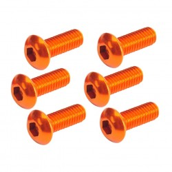 Button Head Hex Screw orange 3x8mm (6)