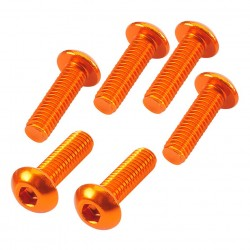 Button Head Hex Screw orange 3x10mm (6)