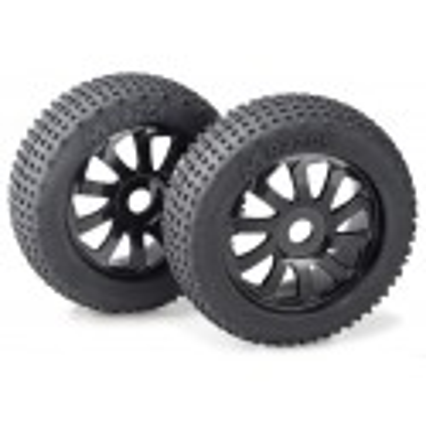 "Wheel Set Buggy ""Razor"" 10 Spokes/Dirt black 1:8 ("