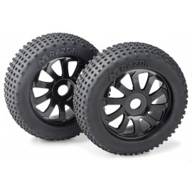 "Wheel Set Buggy ""Razor"" 10 Spokes/Dirt black 1:8 ("