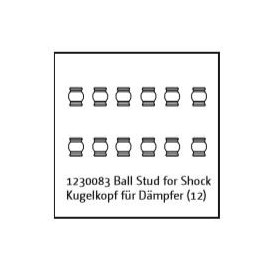 Ball Stud for Shock (12) Buggy/Truggy