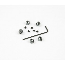 Prisioneros de Aluminio 2 mm color Titanio 5 unidades