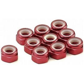 Tuerca con freno alu. 5mm red (10pcs)