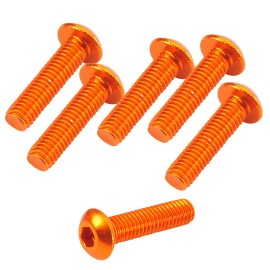 Button Head Hex Screw orange 3x12mm (6)