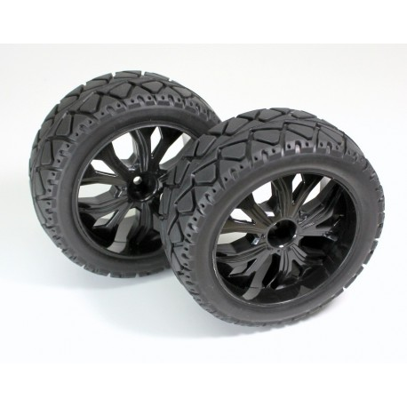 "Wheel Set Buggy ""Rally"" front black 1:10 (2)"