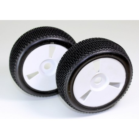 "Wheel Set Buggy 6-spoke ""Dirt"" white 1:8 (2)"