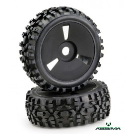 "Wheel Set Buggy Disc ""Dirt"" black 1:8 (2)"