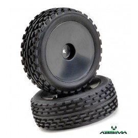 "Wheel Set Buggy Disc ""Offroad"" front black 1:10 (2"