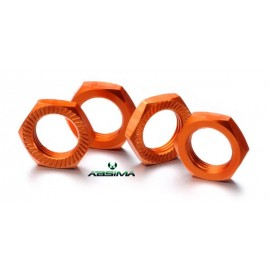Hex locknut 17mm orange (4)