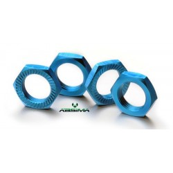 Hex locknut 17mm blue (4)