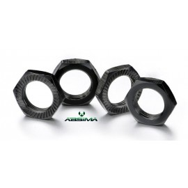 Hex locknut 17mm black (4)