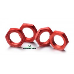 Hex locknut 17mm red (4)