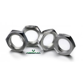 Hex locknut 17mm silver (4)
