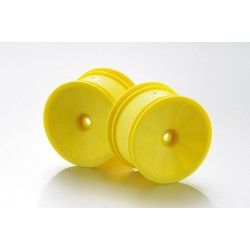 1:10 Offf-Road 2WD/4WD racing rims rear yellow (2)