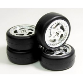 "Wheel Set Onroad ""Throwing Star / Slick"" chrome 1/10"