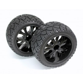 "Wheel Set Buggy ""Rally"" rear black 1:10 (2)"