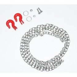 Steel chain and hook set 96cm 1:10