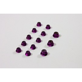 TEAM C TU0860P Alu Nut Set purple (13) 1:8 Comp.