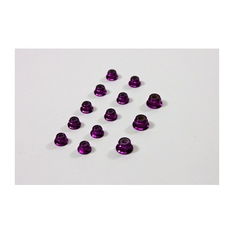 Alu Nut Set purple (13 pcs) 1:8 Comp.