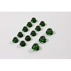 Alu Nut Set green (13 pcs) 1:8 Comp.