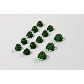 TEAM C TU0860GR Alu Nut Set green (13) 1:8 Comp.
