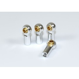 Aluminium Ball End incl. Ball Stud (4) silver 1:10